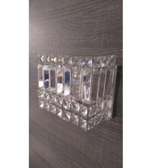 Arandela de Cristal Asfour p/ 2 lâmpadas uso Interno