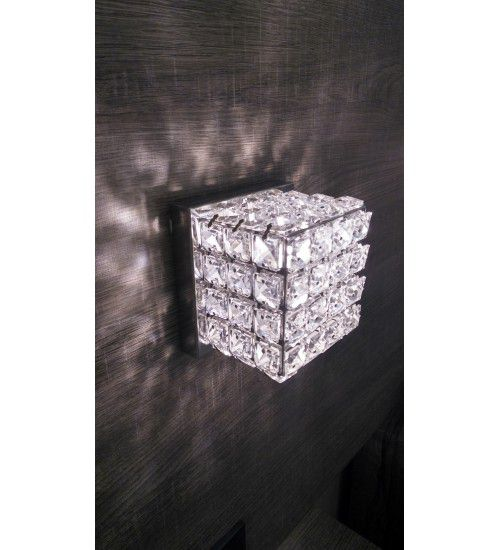 Arandela de Cristal Legítimo Asfour Egípcio Cromada