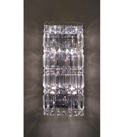 Arandela de parede decorativa em cristal legitimo 4xG9