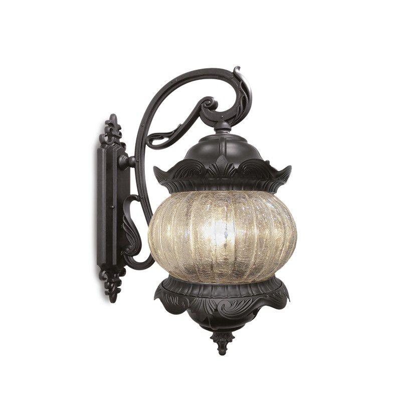 Arandela Colonial Lanterna Classica Metal E Vidro Externa E Interna LO-1407
