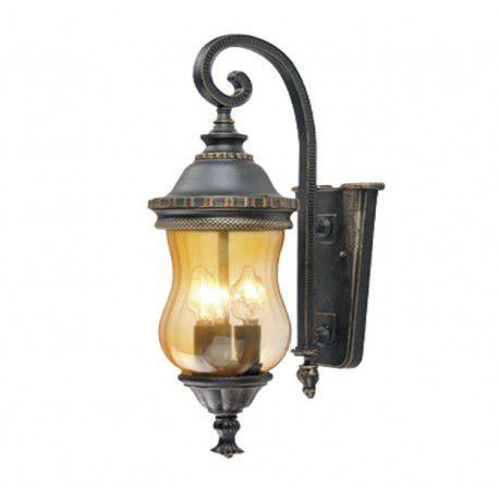 Arandela Colonial Lanterna Classica Metal E Vidro Externa E Interna LO-1271