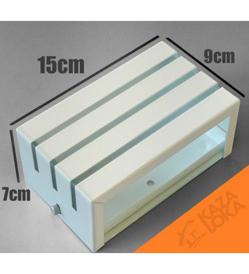 Arandela Frisada Retangular 2 Fachos e 3 Frisos Uso Interno e Externo em Alumínio
