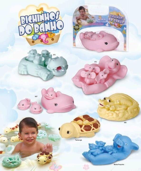 Bichinhos de Vinil Para Banho Bebês