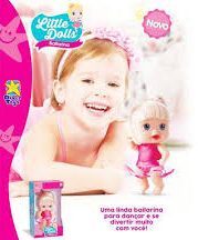 Brinquedo Boneca Bebê Little Dolls Alive Bailarina - Divertoys