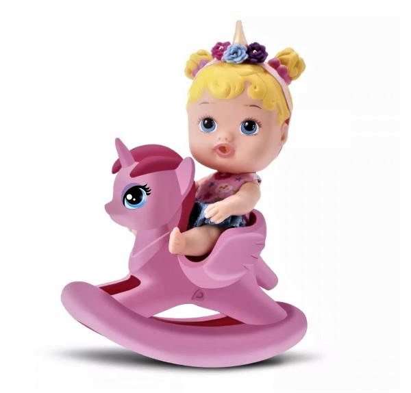 Brinquedo Boneca My Little Dolls Balancinho Unicórnio