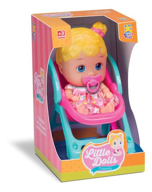 Brinquedo Boneca My Little Passeio Divertoys Bebe Conforto