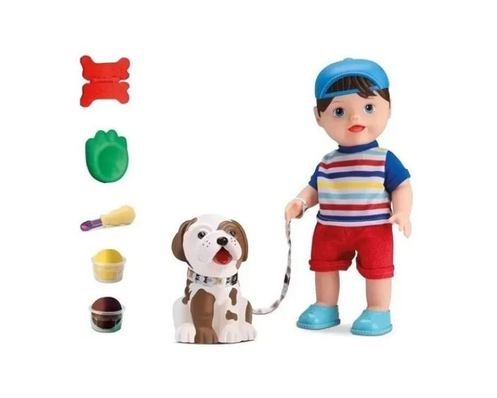 Brinquedo Boneco My Little Collection My Pet Boy