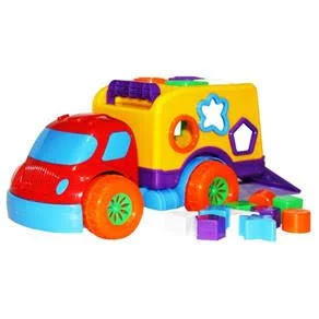 Brinquedo Caminhão Robustus Kids Betoneira De Bolinha Divertoys