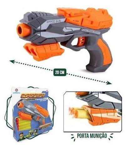 Brinquedo Thunder shot C/ 5 Dardos de E.V.A