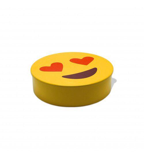 Caixa de Aço Emoticon Apaixonado