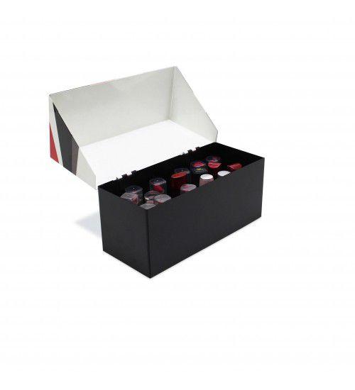 Caixa de Batons Geométrica Vermelha