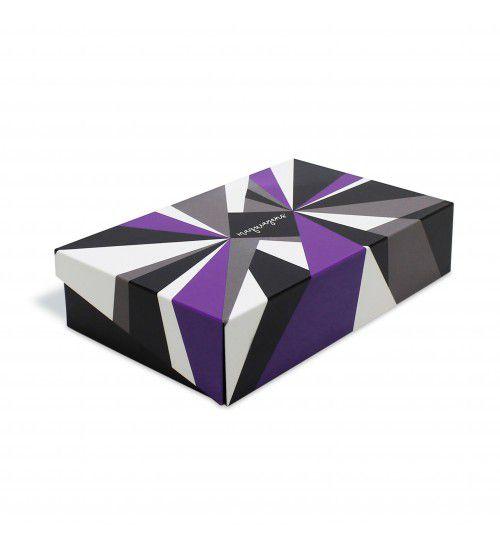 Caixa de Maquiagens Geométrica Roxa