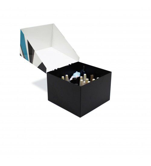 Caixa Esmaltes Geométrica Azul