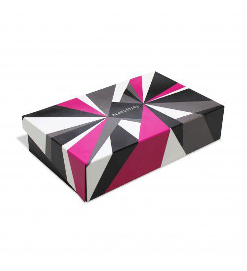 Caixa Organizadora de Acessórios Geométrica Rosa