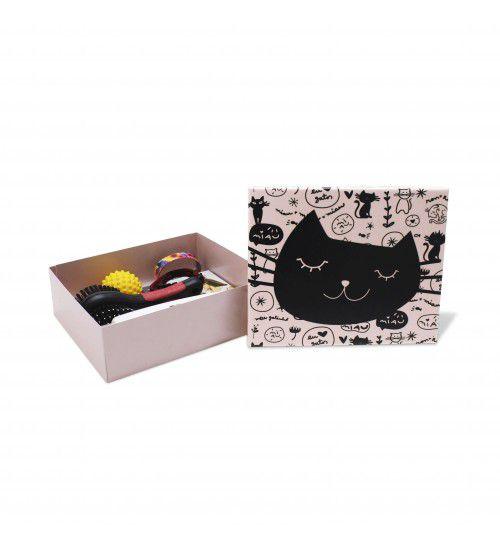 Caixa Organizadora de Objetos Rosa Gato Preto
