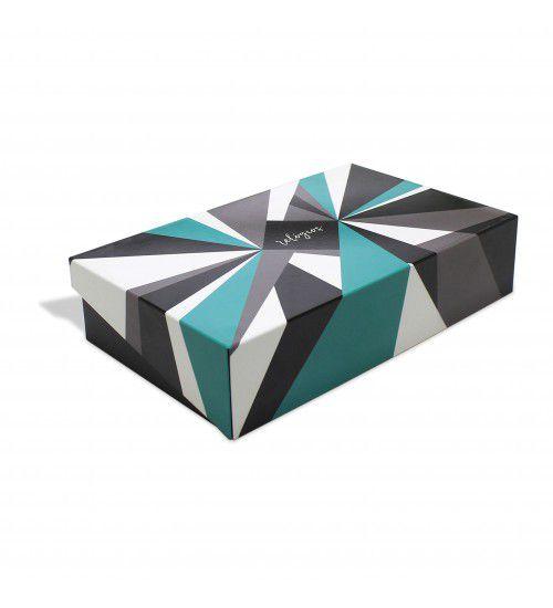 Caixa Relógios Geométrica Verde