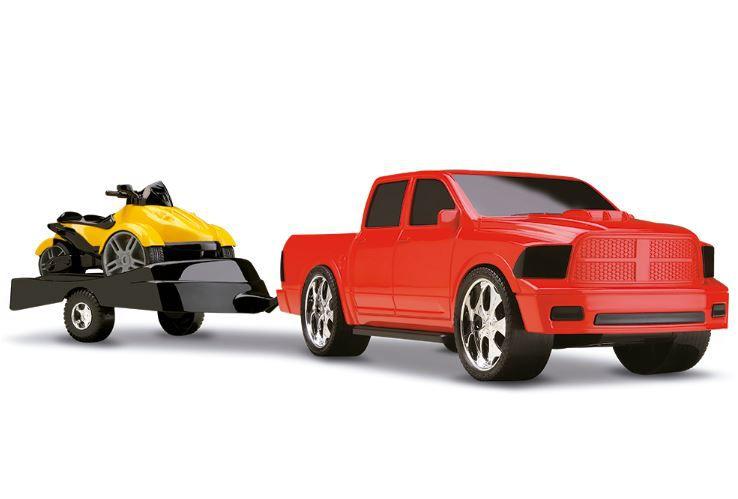 Caminhonete Vermelha e Triciclo - Scorpion Dragon