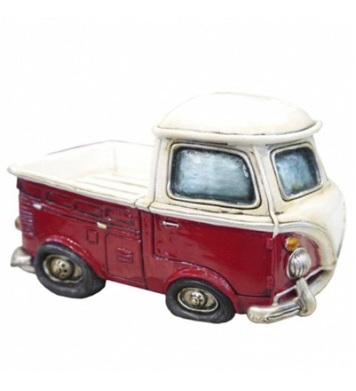 Cofre Miniatura Kombi PickUp Vermelha