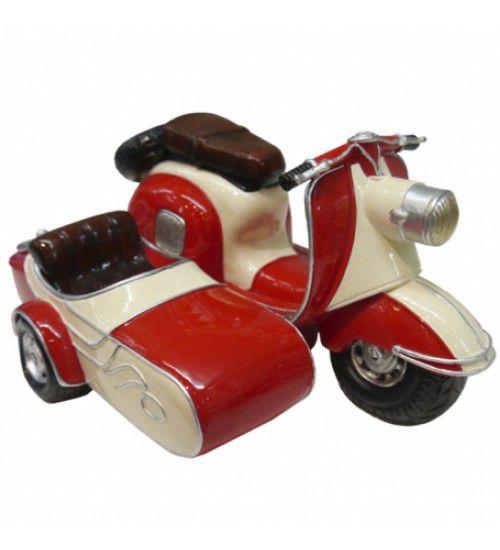 Cofre Miniatura Lambreta C/ Sidecar