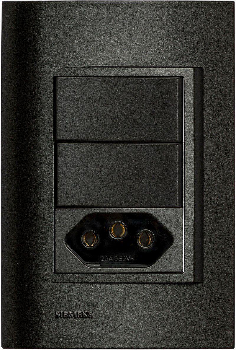 Conjunto 02 Interruptores Paralelos + 01 Tomada Eletrica 10A - Vivace (5TA9 9372)