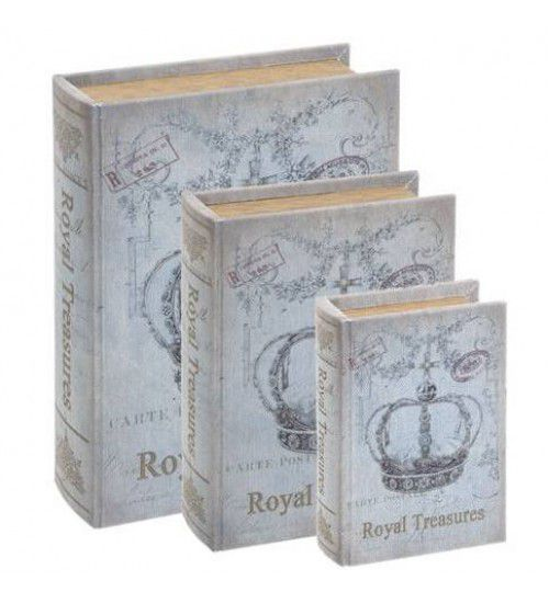 Conjunto Livro Caixa Organizadora Coroa