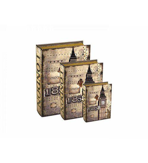 Conjunto Livro Caixa Organizadora London