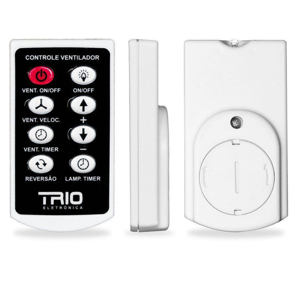 Controle Remoto Trio Slim Para Ventilador De Teto E Luz