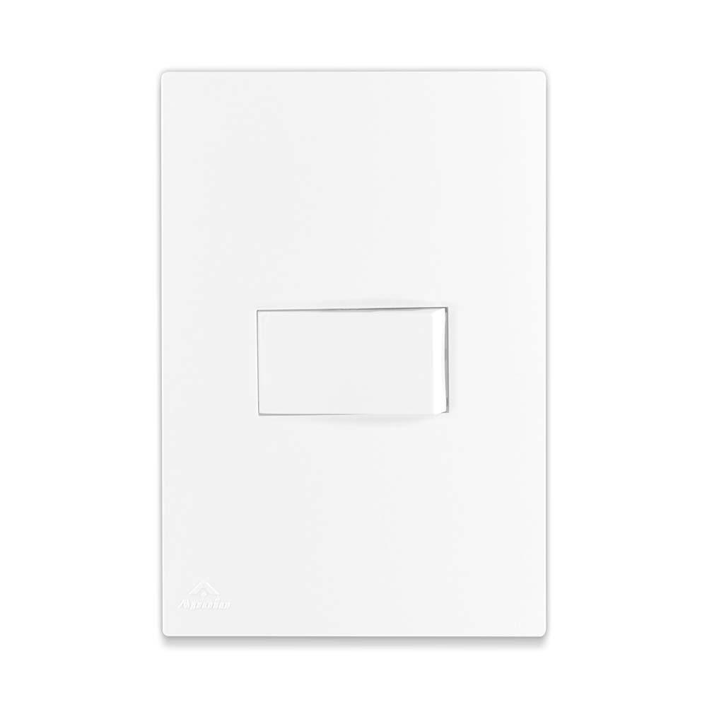 Interruptor Simples 10A 250V + Suporte + Placa / Linha Lissê - Apoio