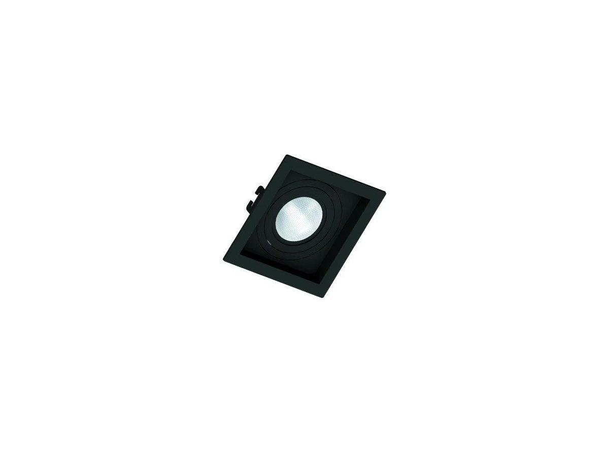 Kit 15 Spot de Embutir Orbital Quadrado Recuado Par20 + 12 Dicroica Quadrado Recuado Preto