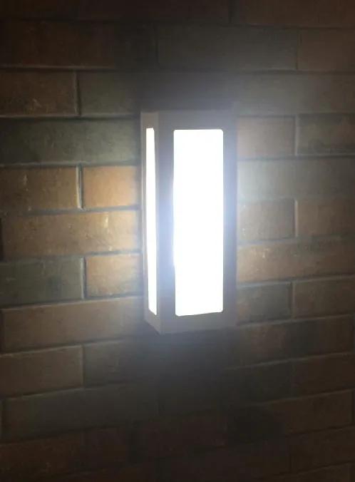 Arandela 3 Vidros Parede Muro Para Área Externa e Interna 2xE27