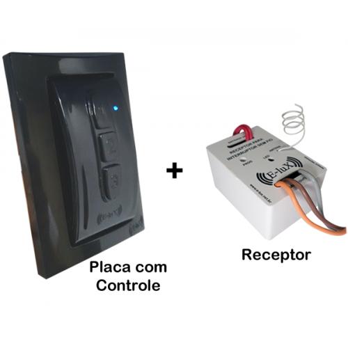 Kit Interruptor Sem fio Controle Remoto com Placa + Receptor Liga e Desliga E-LUX