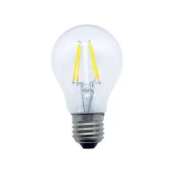 Lâmpada Bulbo A60 Filamento Led Transparente 4w