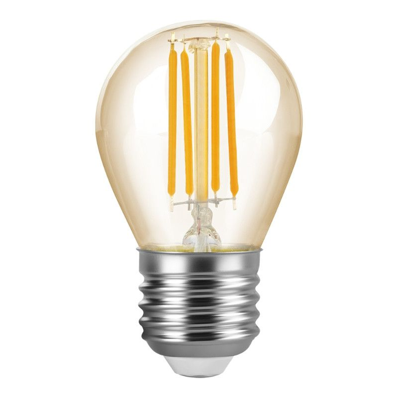 Lâmpada LED Bolinha Vintage Âmbar 4W 2200K Nacional
