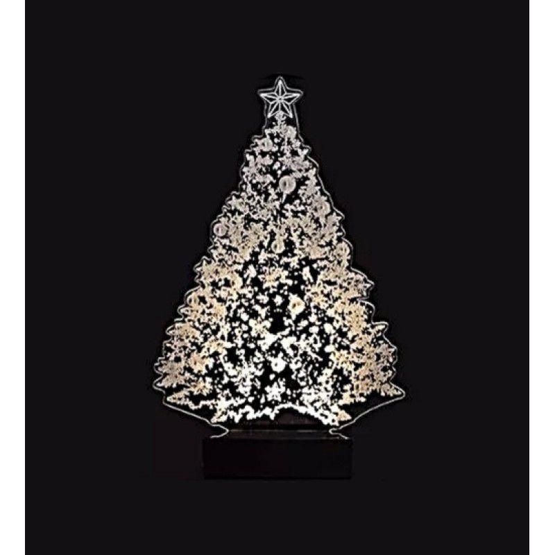 Luminária Abajur Led 3D Árvore de Natal