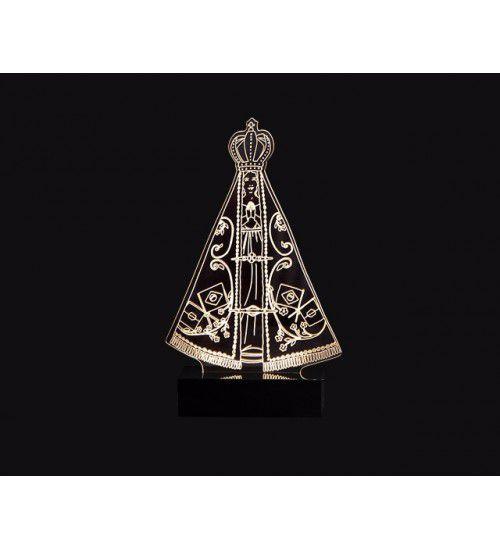 Luminária Abajur Led 3D Nossa Senhora