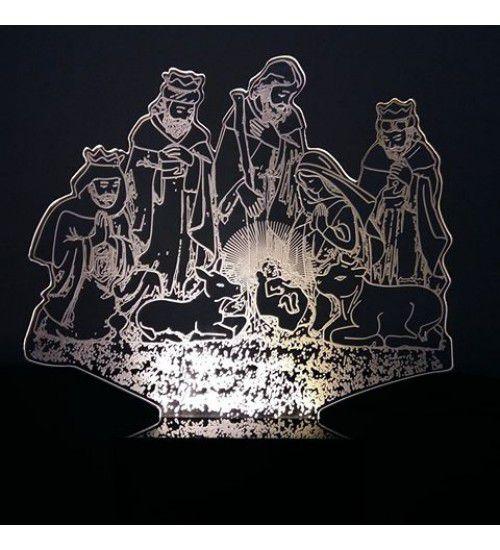 Luminária Abajur Led 3D Presépio