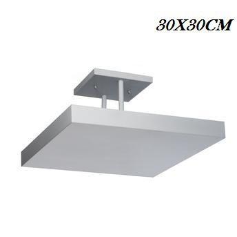 Luminária De Sobrepor Plafon De Luz Indireta 4E27 Branco 30X30CM