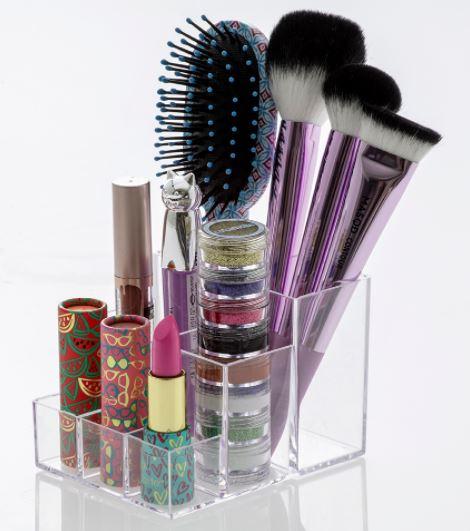 Organizador De Maquiagem Porta Pinceis 9x11x8cm
