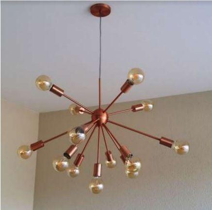 Pendente Moderno Sputnik Atom Cobre 80Ø 13xE27