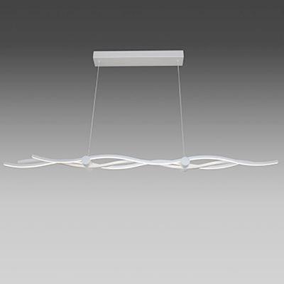 Pendente Moderno em Alumínio Branco c/ LED 51W 3000K BRANCO QUENTE