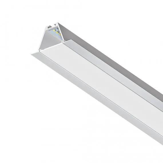 Perfil LED de Embutir para Gesso 19w/M 1850LM