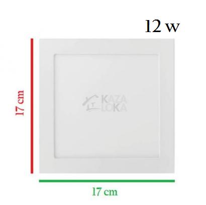 Plafon Placa Led Embutir 17,5 x 17,5 12W Bivolt