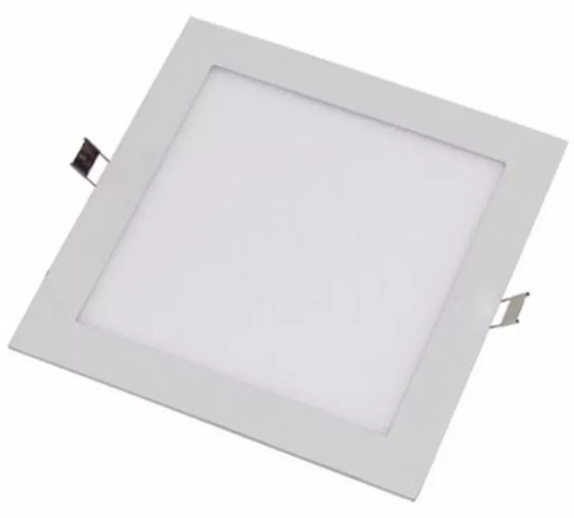 Plafon Placa Led Embutir 22,5 x 22,5 18W Bivolt Evoled
