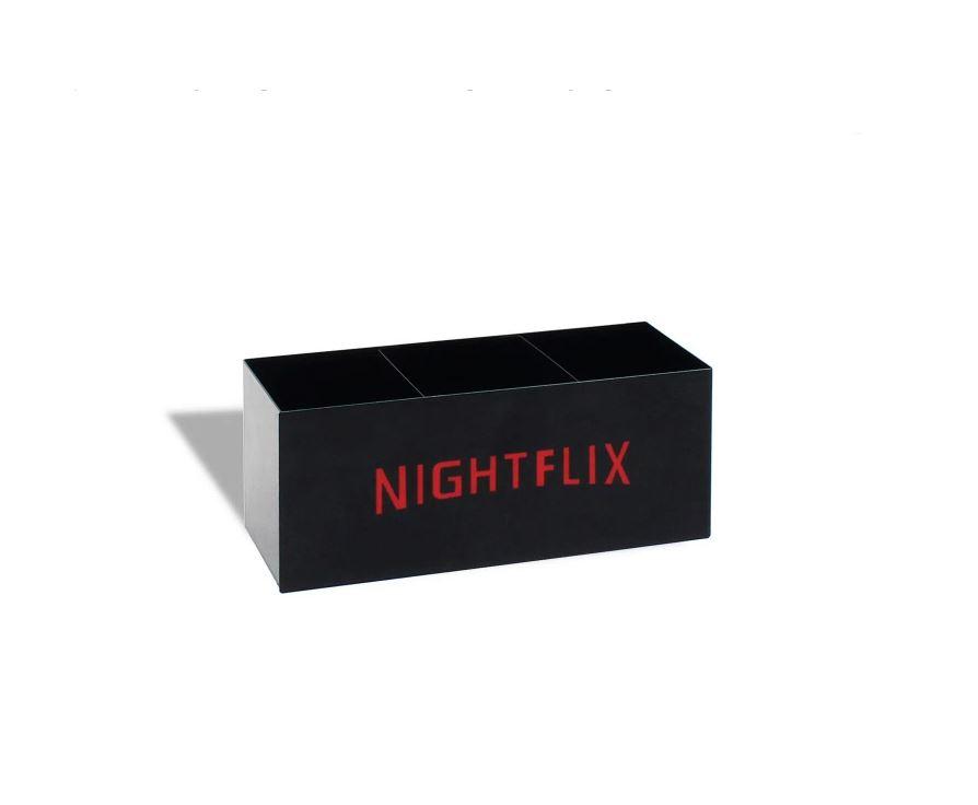 Porta Controle Nightflix Preto