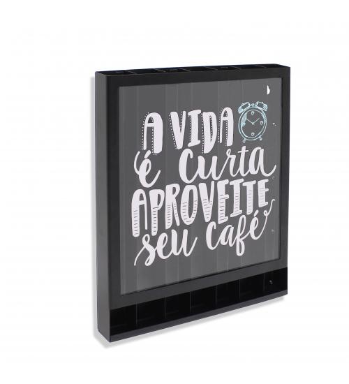 Quadro Porta Cápsulas Aproveite Seu Café