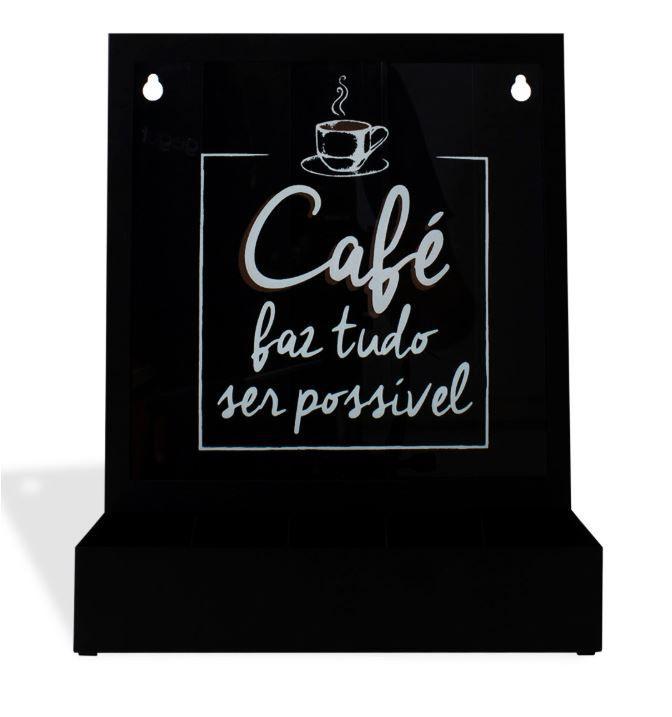 Quadro Porta Cápsulas de Mesa/Parede Tudo Possível (Nespresso)