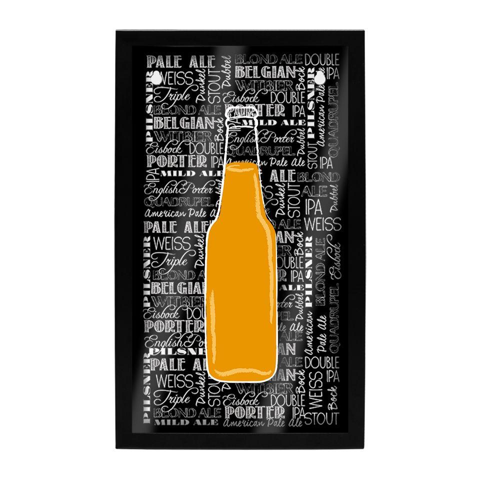 Quadro Porta Tampinhas de Parede Cerveja