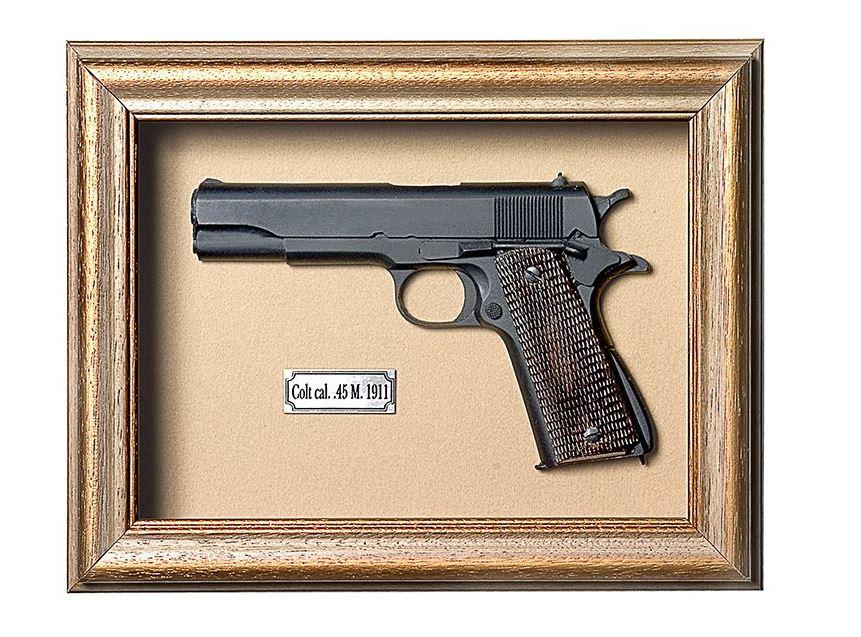 Quadro Réplica de Arma Resina KG Colt cal. 45 M. 1911 - Clássico