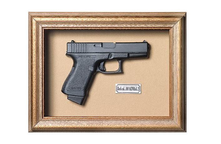 Quadro Réplica de Arma Resina KG Glock cal. .380 ACP-Mod. 25 - Clássico