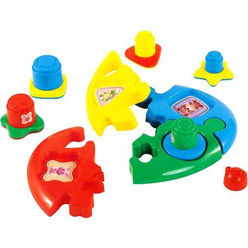 Quebra-Cabeça Duo Baby Puzzle Formas Didáticas